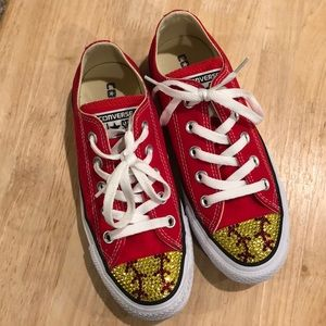 81faf1ae63e7 Converse Shoes -    Custom Bling Converse! (Softball style!)